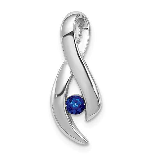 Bonyak Jewelry 14k White Gold Sapphire Diamond - Slide Gold 14k Sapphire