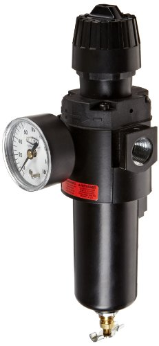 Dixon CB6-04MGMB Manual Drain Wilkerson Compact Filter/Regulator with Metal Bowl and Sight Glass, 1/2'' Size, 70 SCFM Flow, 200 psig Pressure by Dixon Valve & Coupling