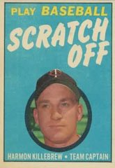 1971 Topps Scratch Offs (Baseball) card#11 harmon killebrew of the Minnesota Twins Grade Excellent to Excellent Mint ()