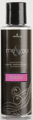 Me and You Massage Oil - Pink Grapefruit and Vanilla Bean - 4.2 Oz. by Sex Toys Online Store