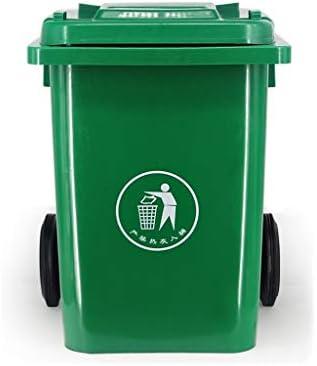 滑らかな表面 肥厚屋外ゴミ箱、レストランパーク多機能プラスチックごみ箱でカバーホイルごみ箱複数の色があります リサイクル可能なデザイン (Color : Green, Size : 80L)