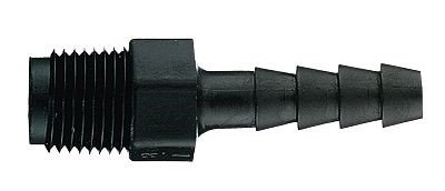 HDPE Cole-Parmer Threaded Adapter Male 1//8 x 3//16 Pack of 10