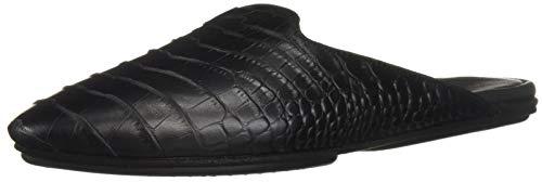 Yosi Samra Women's VIDI Mule, Black Crocodile Print Leather, 9 M US