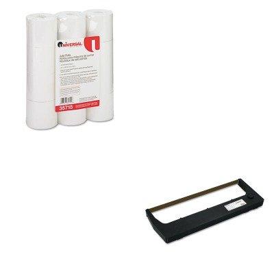 KITPRT255048402UNV35715 - Value Kit - Printronix 255048402 Ribbon (PRT255048402) and Universal Adding Machine/Calculator Roll ()