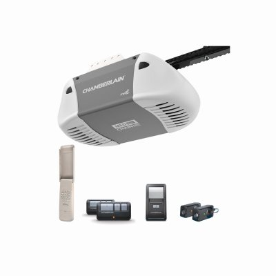 (Chamberlain Group C410 Durable Chain Drive Garage Door Opener with MED Lifting Power, Pewter)
