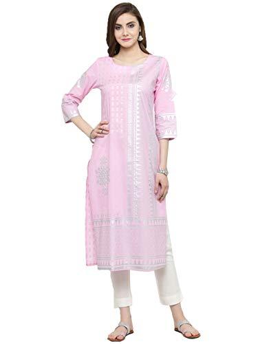 Manas Crafts Designer Kurta Kurti Indian Ethnic Top Tunic Party Wear Women Dress Blouse (S)