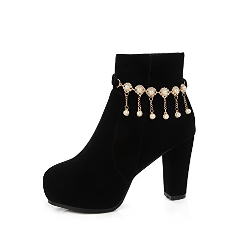 Platform Chain Black Frosted Glass Diamond Metal amp;N Ladies A Boots Bqwz0xYtW