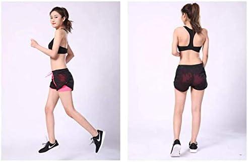 KIRALOVE Pantaloncini Donna Shorts Sportivi Mare Spiaggia Ragazza Colore Fuxia e Nero Doppi Fitness Sport
