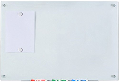 "Audio-Visual Direct Magnetic White Glass Dry-Erase Board Set - 23 5/8"" x 35 1/2 Inches -"