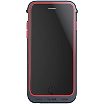 wholesale dealer 71a42 13a3d SanDisk iXpand 32GB Memory Case for iPhone 6/6s - Retail Packaging - Red