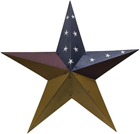CWI Gifts 36 Colonial Barn Star Wall D cor, Multi