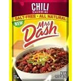 Mrs Dash Salt Free Chili Mix (1.25 oz Packets) 4 Pack by Mrs. Dash