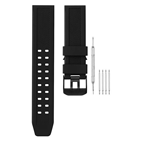 - Adebena Replacement 23mm Rubber Watch Band Strap Fits Casio Timex Seiko Luminox 3050 3060 8800 and 3950 Series (Black Buckle)
