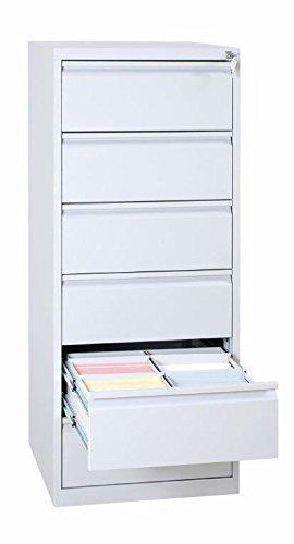 Lüllmann 565620 - Mueble archivador, DIN A5, 6 cajones con 2 divisiones, acero, color gris claro: Amazon.es: Oficina y papelería