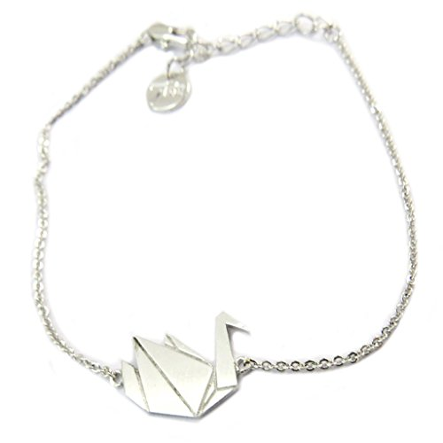 Origami Swan - Handcrafted bracelet 'Origami' (swan)silver - 16x13 mm (0.63''x0.51'').