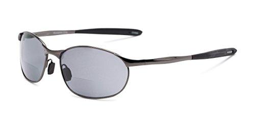 - Readers.com | The Sean Bifocal Reading Sunglasses +2.00 Glossy Grey with Smoke Sport & Wrap-Around Men's & Women's Full Frame