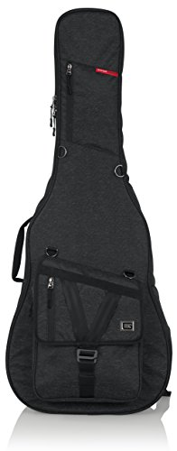 Gator Cases Transit Series Acoustic Guitar Gig Bag; Charcoal Black Exterior (GT-ACOUSTIC-BLK) ()