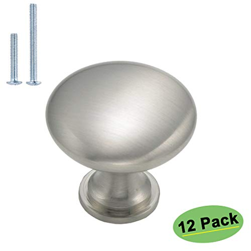 - homdiy Knobs for Kitchen Cabinets 12 Pack Satin Nickel Cabinet Knobs HD6050SNB Modern Drawer Knobs Satin Nickel Cabinet Hardware