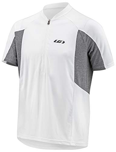 Louis Garneau Men's Connection Lightweight, Quick Dry, Short Sleeve Cycling Jersey, White/Gray, Large ()