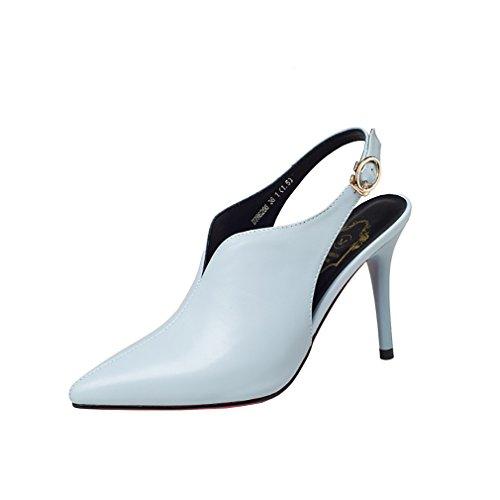 Slip Cone qcfusp Blue Heel UK On Shoes Court Women 12CM Open Vaneel Toe 2 0BUwF1qq