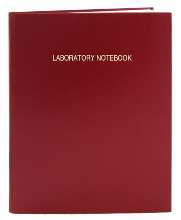 BookFactory Red A4 Lab Notebook - 168 Pages (5mm Grid Format), A4-8.27 x 11.69 (21 cm x 29.7cm), Red Cover, Smyth Sewn Hardbound Laboratory Notebook (LIRPE-168-4GR-A-LRT1) by BookFactory