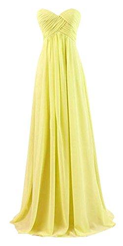 Kleid Drasawee Damen Bandeau Gelb Gelb PrrEYx