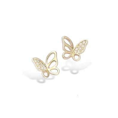 Boucle d'oreille en papillon