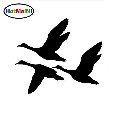 Ducks Flying Car Sticker Decals Creative Decorative Bird Hunting Waterfowl Motorcycle Car Stickers Black/Sliver Brown