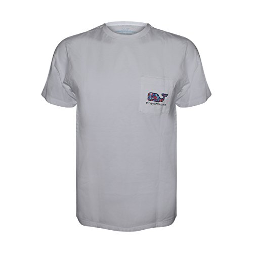 Vineyard Vines Mens Short Sleeve Graphic Poket T Shirt  White Cap Bonefish  Large
