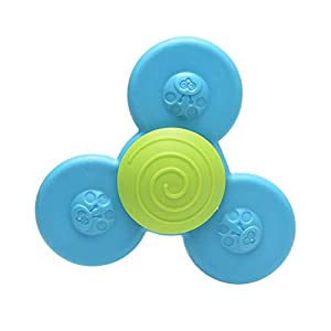 3PCS Fingers Hand Spinners, Suction Cup Spinning Top Toy, Safe Soft Spin Spinners Toys, Interesting Baby Roatation Toys…