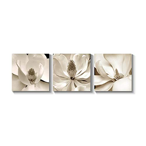 Grander Group Floral Artwork Flower Picture Print - Orchid Graphic Art Painting on Canvas for Wall