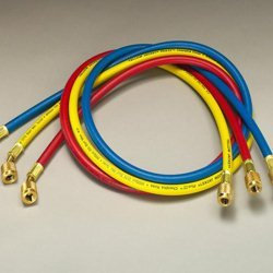 Yellow Jacket 21983 Plus II Hose Standard 1/4'' Flare Fittings, 36'', Red/Yellow/Blue (Pack of 3)