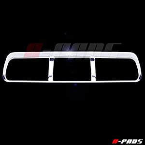 A-PADS Chrome Third Brake Light Cover for Ford F150 2009-2014 - Chromed Hood Roof Top Lamp Trim Outline