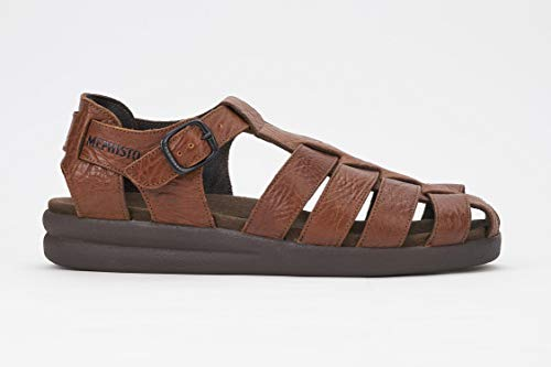 Mephisto Men's Sam Sandals Tan Grain Leather 12 M US