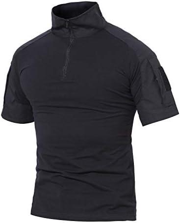 Magcommsen Tshirt voor heren militaire stijl vecht lente lange mouwen ademend Tshirt met twee zakken kleding buiten camouflage