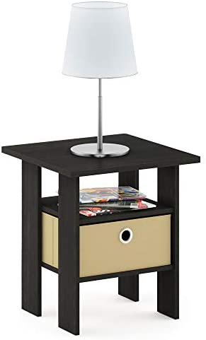 home, kitchen, furniture, living room furniture, tables,  end tables 3 discount Furinno End Table Bedroom Night Stand w/Bin deals