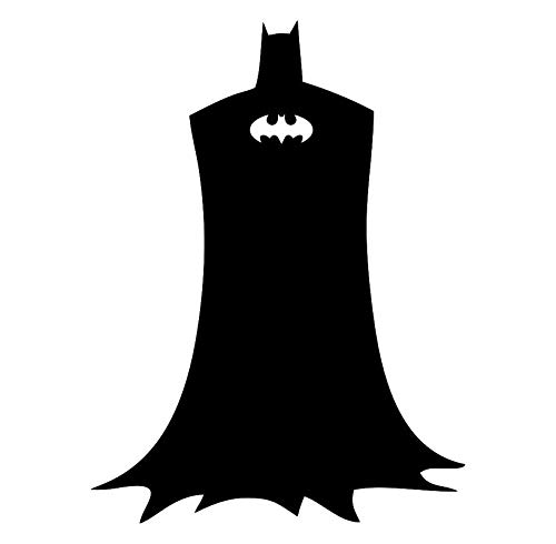 CCI Batman Silhouette DC Comics Decal Vinyl Sticker Cars Trucks Vans Walls Laptop Black  5.5 x 4.2 -