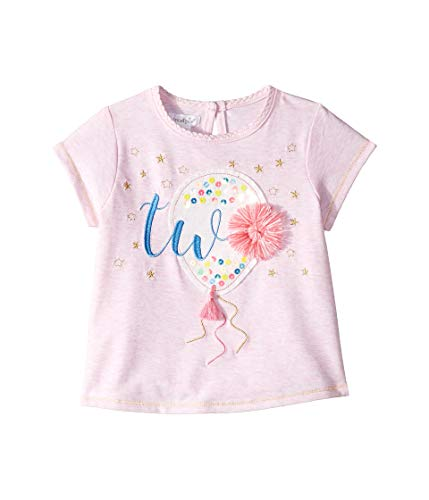 (Mud Pie Baby Girl's Two Birthday Tee (Toddler) Pink 2T (Toddler))