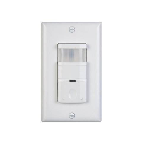 NICOR Lighting Dual-Voltage Occupancy/Motion Sensor with 180-Degree Field Of View, White Finish (DOS180-120-277VWH)