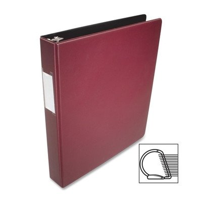 [해외]Business Source Slanted D-Ring 바인더, 색상 : 부르고뉴, 크기 : 1/Business Source Slanted D-Ring Binder, Color: Burgundy, Size: 1
