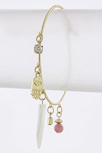 KARMAS CANVAS ACRYLIC HORN CHARM BRACELET - To Online Where Dior Buy