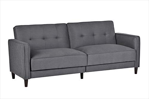 Container Furniture Direct SB-9037 Elizabeth Ultra Modern Tufted Convertible Sleeper Sofa Bed, 81