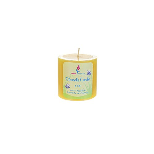 Paraffin Wax Non Toxic 100/% Natural ANTI INSECT  Citronella Pillar Scented