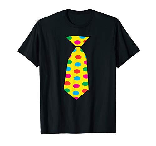 Jumbo Clown Costume Tie Big Polka Dots Halloween Shirt -