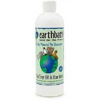 EarthBath Hot Spot Relief Shampoo Tea Tree Oil & Aloe Vera 16 fl. Oz. Dog Cat Tree