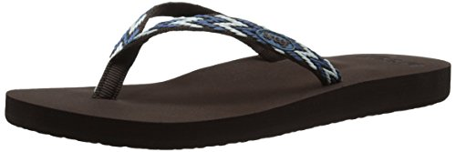 Reef Ginger Drift - Chanclas de Material sintético para Mujer Varios Colores - Mehrfarbig (Blue Multi Bum)