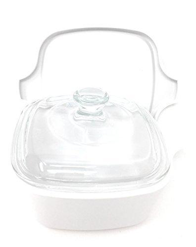 Stovetop Corningware - CorningWare Stovetop Ceramic Petite Pan Casserole Dish Cookware With Glass and Plastic Lids (3 piece Set) 700mL
