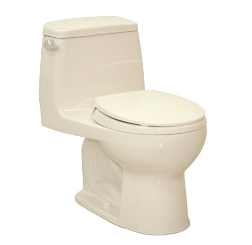 Toto MS853113S UltraMax 1.6 GPF One Piece Round Toilet - with Seat, Bone - 6 Gpf Bone