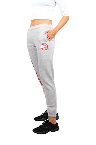 UNK NBA Women's Jogger Pants Active Logo Fleece Sweatpants, Gray – DiZiSports Store
