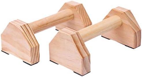 Wakauto Staffa Push-Up da 50 cm Manico Push-Up in Legno Manubrio Aerobico Fitness Singolo Und Doppio Con Telaio Elasticizzato Barre Parallele in Legno